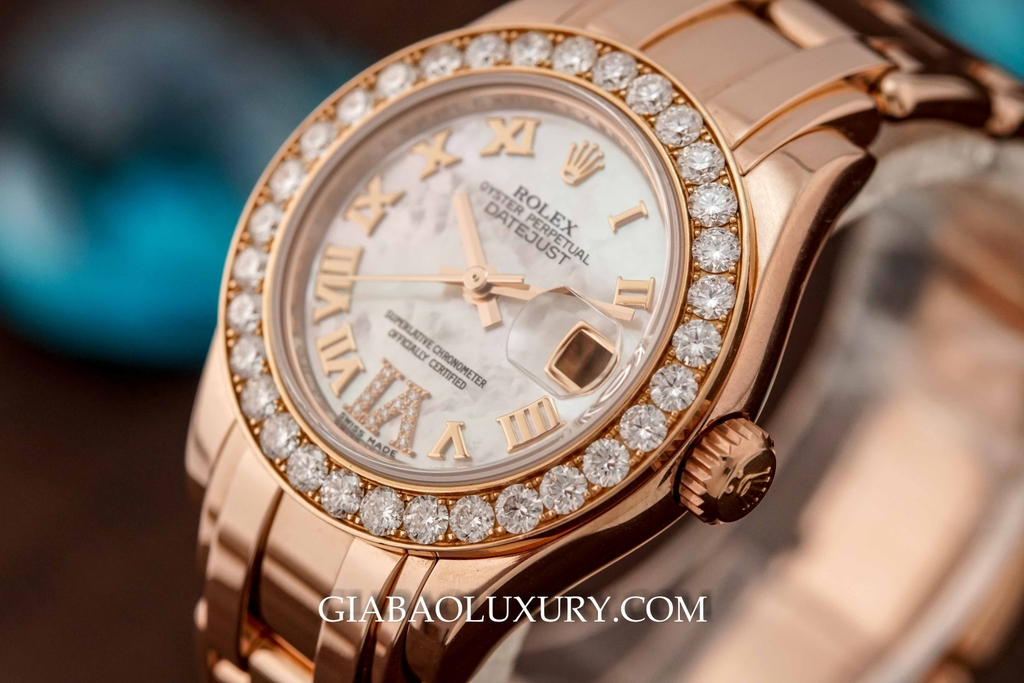 Đồng Hồ Rolex Datejust Lady Pearlmaster 29 mm Everose Gold 80315