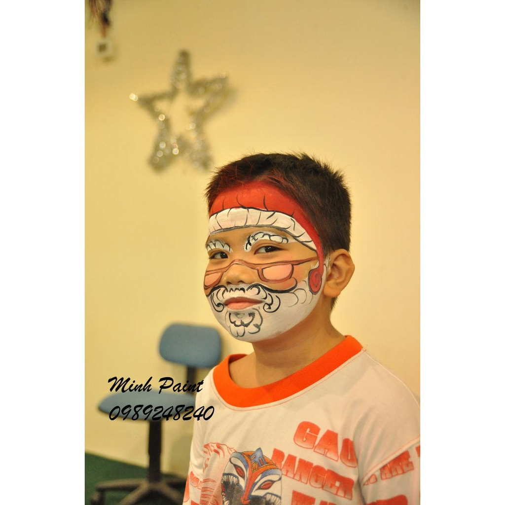 merry christmas face painting