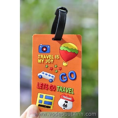 Thẻ hành lý Name Tag Travel Is My Joy K0810 40g