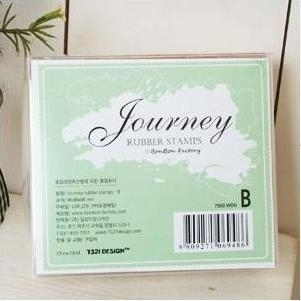 Bộ con dấu gỗ Journey Rubber Stamps B K0758 90g