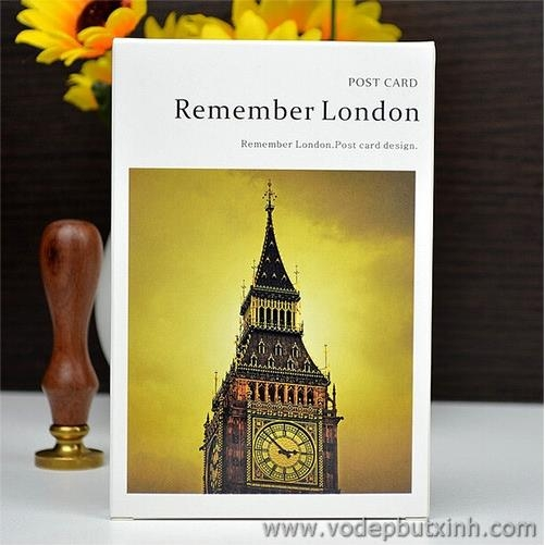 Bộ thiệp Post Card Remember London 30 tấm K0853 180g