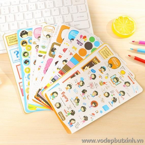Bộ Sticker Cooky's Stamp K1599 35g