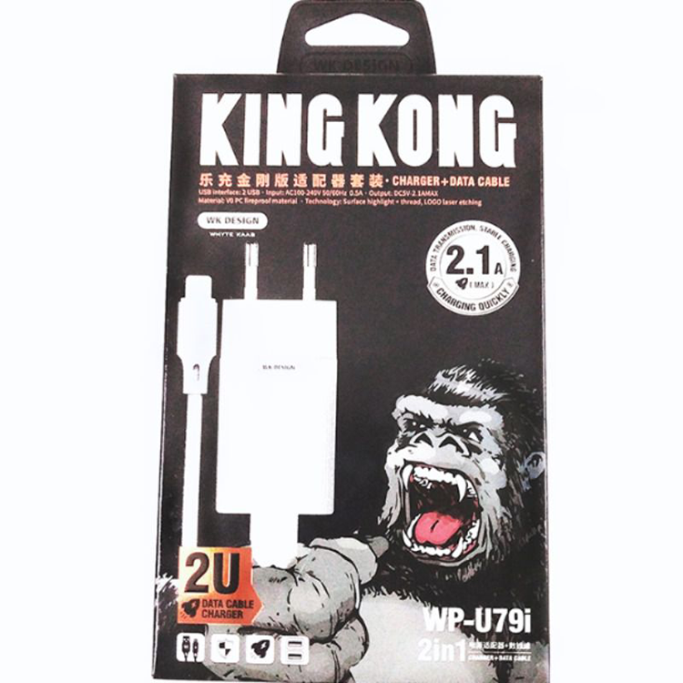 COMBO IPHONE KINGKONG 2.1A MAX WP-U79I