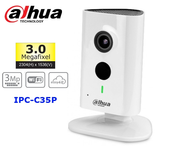 Camera IP Dahua IPC-C35P (3.0MP, wifi, thẻ nhớ)
