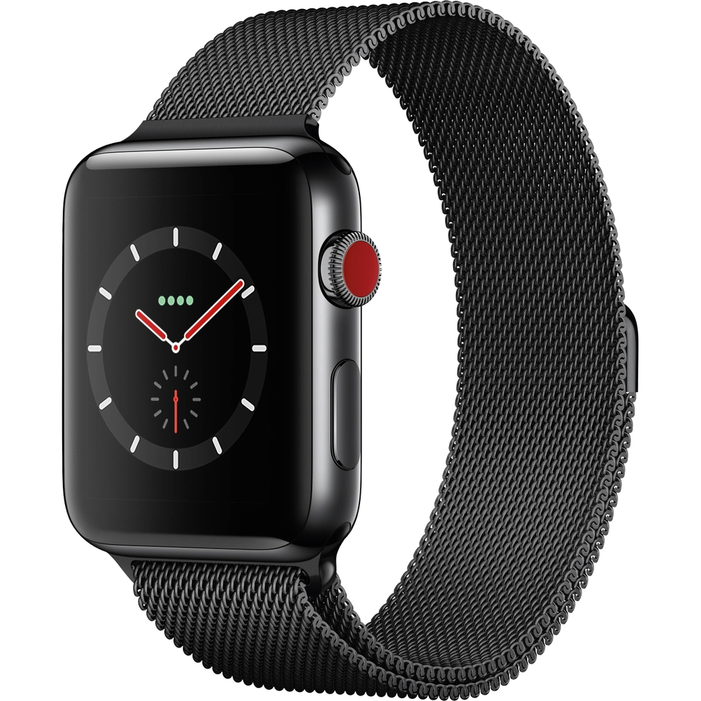 Apple Watch Series 3 Space Black Stainless Steel with Milanese Loop 99%