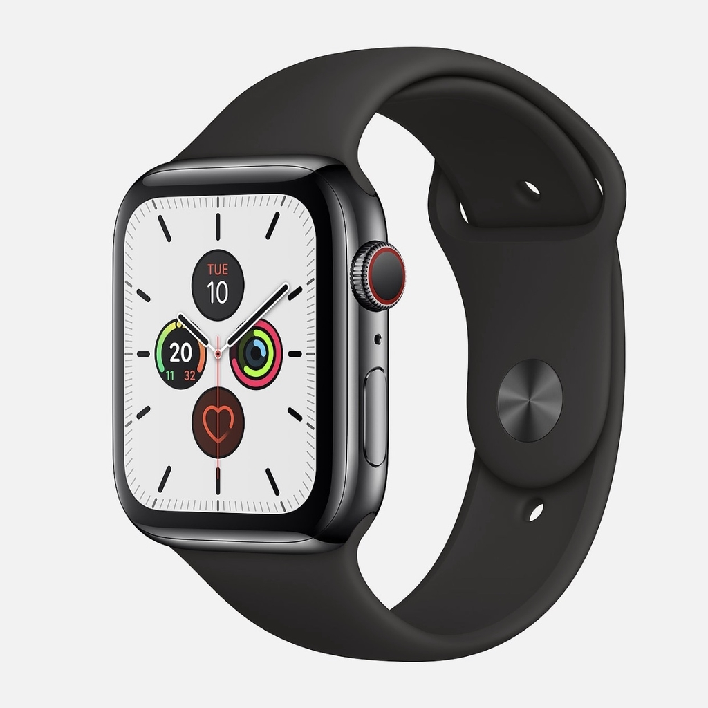 Apple Watch Series 5 Space Black Stainless Steel with Sport Band NewSeal