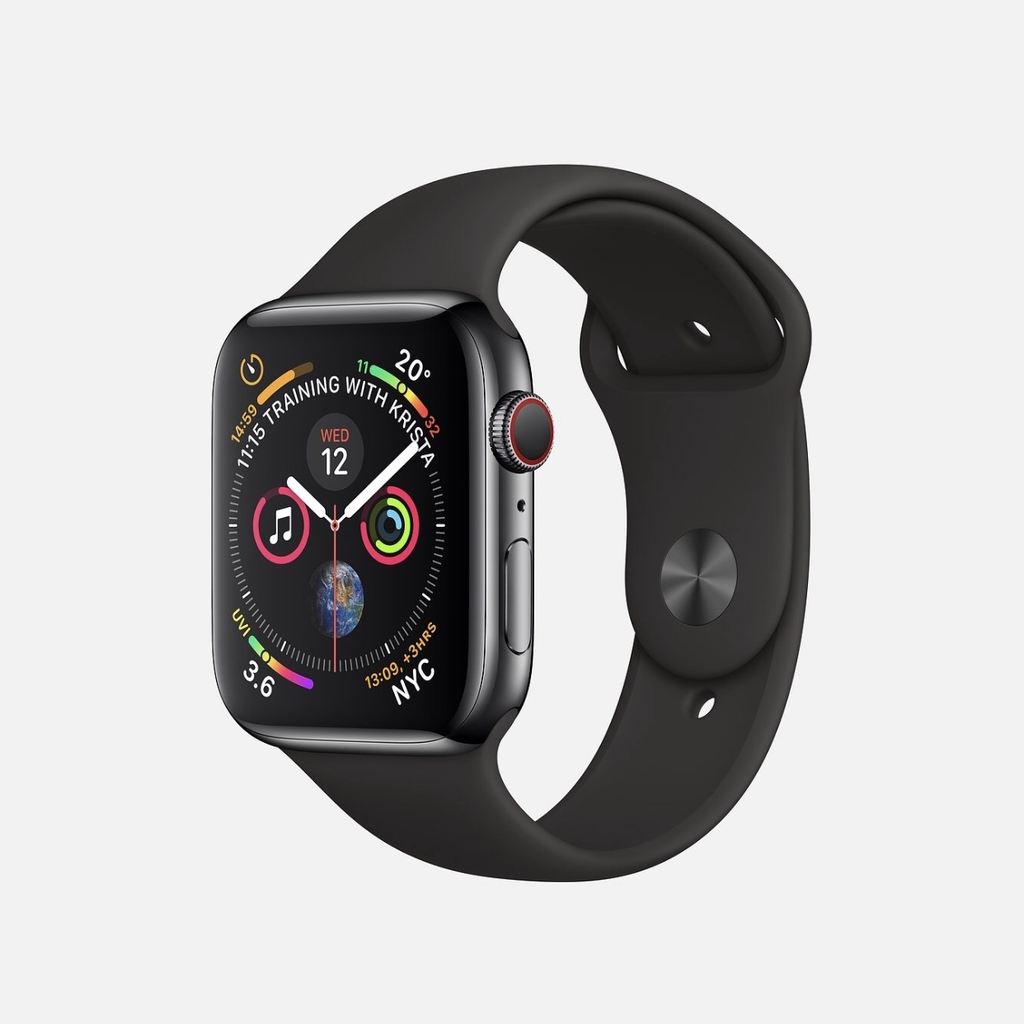 Apple Watch Series 4 GPS+CELL Black Stainless Steel, Sport Band New Seal (ZP/A)