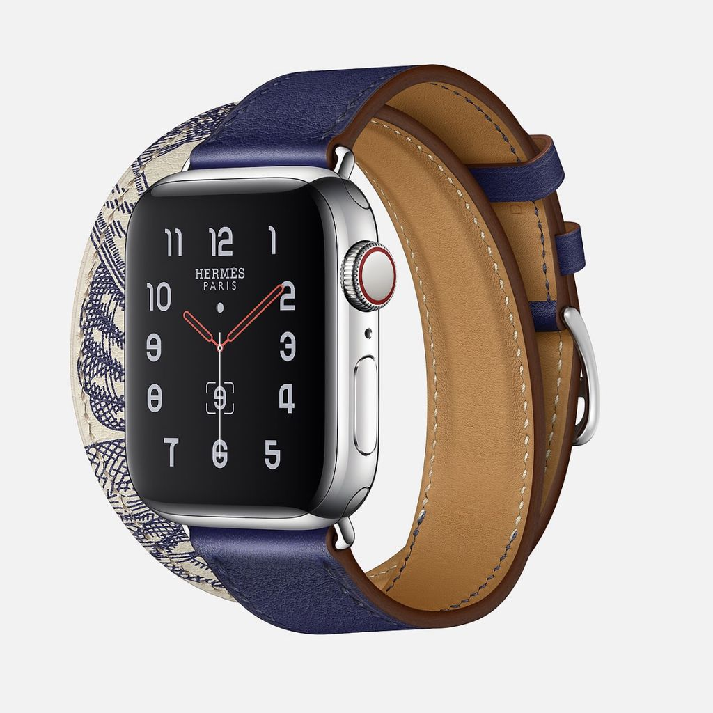 Apple Watch Hermès Series 5 Encre/Béton Swift Leather Double Tour (only 40mm)