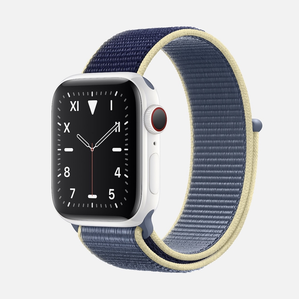 Apple Watch EDITION Series 5 White Ceramic with Alaskan Blue Sport Loop