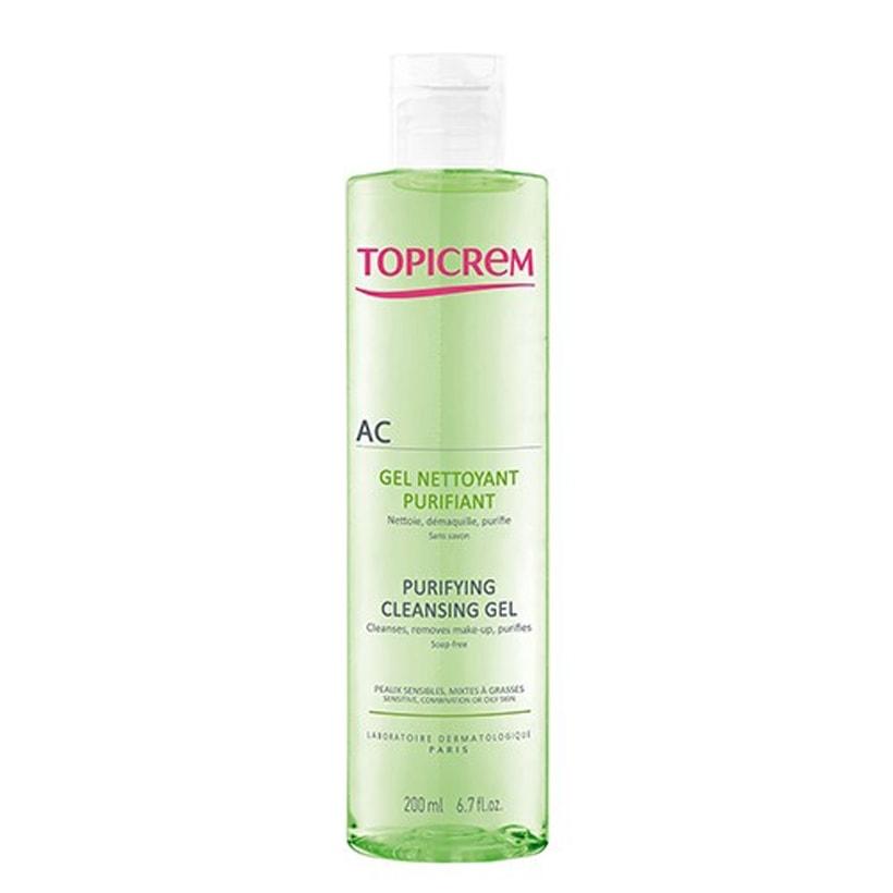 Gel rửa mặt cho da nhờn mụn AC Purifying Cleansing Gel 200ml - Topicrem