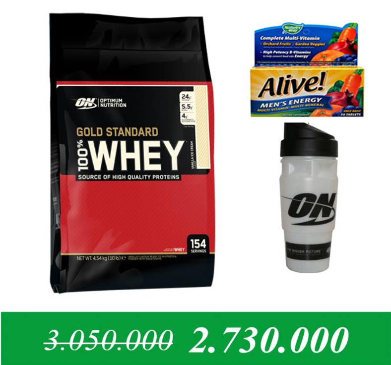 Sữa tăng cơ Protein Gold standard 100 % whey 10lps