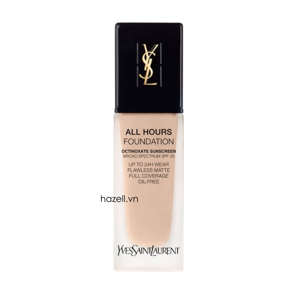 Kem nền YSL All Hours Foundation Octinoxate Sunscreen Broad Spectrum Spf 20