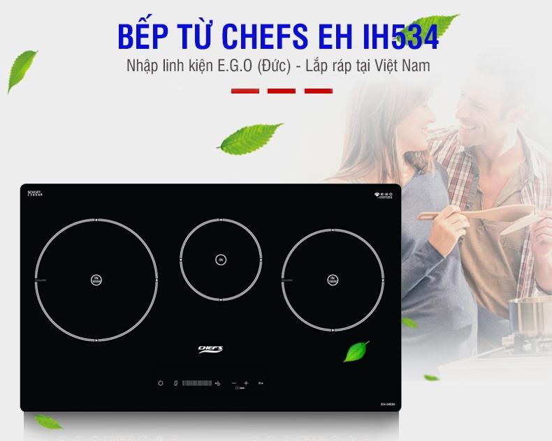 Bếp từ Chefs EH IH534 : khi người Việt lắp bếp từ