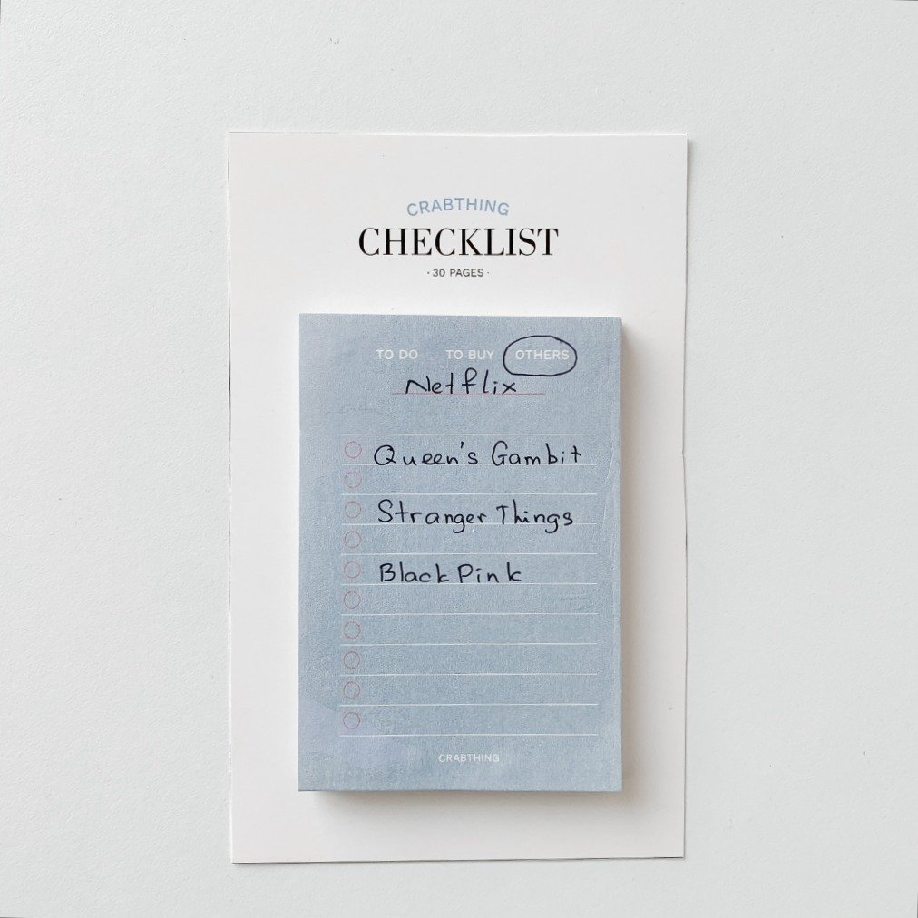 Checklist Note - Crabit Notepad