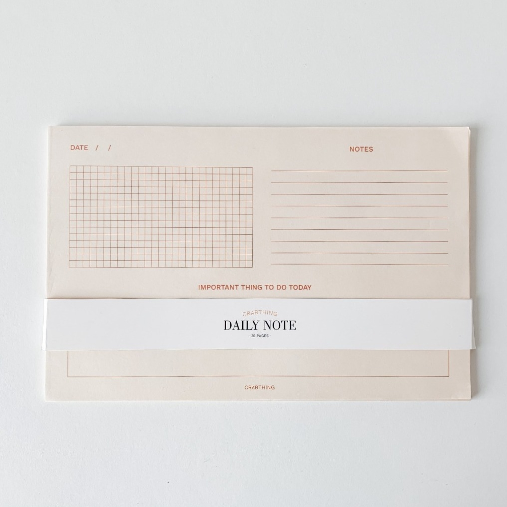 Daily Notepad - Crabit Notepad