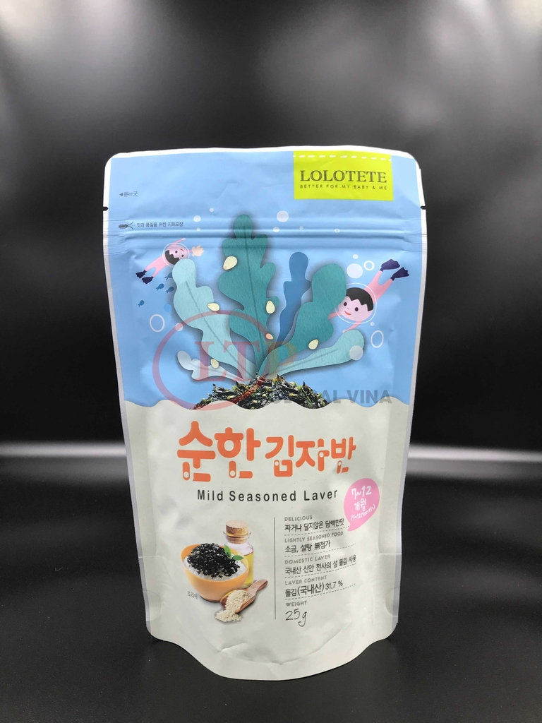 Zipper Stand Up Pouch Seaweed LOLOTETE KOREA
