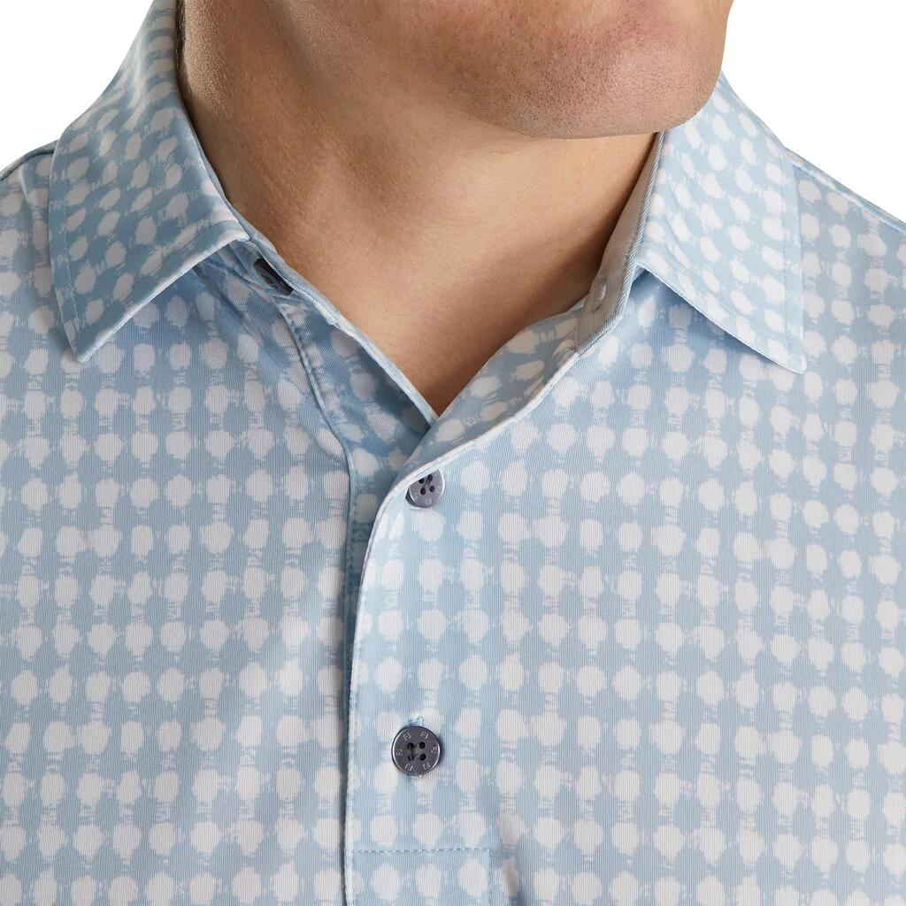 FJ Lisle Gingham Fray Print Collar Blue Fog/White 86520 (A862)|Linking...