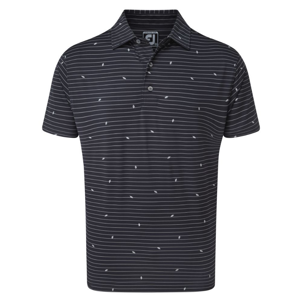 Áo golf nam FJ Lisle Stripe Leaf Print 86548(A835)|Linking Golf