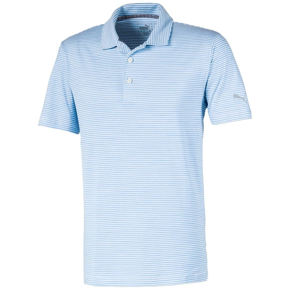Áo Golf Nam Puma Caddie Stripe Polo Blue Bell Heather 59511511 (A780)|...
