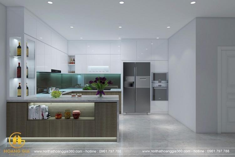 Phòng Bếp Hiện Đại được thiết kế tại nhà Cô Hà số 18 Tam Trinh,