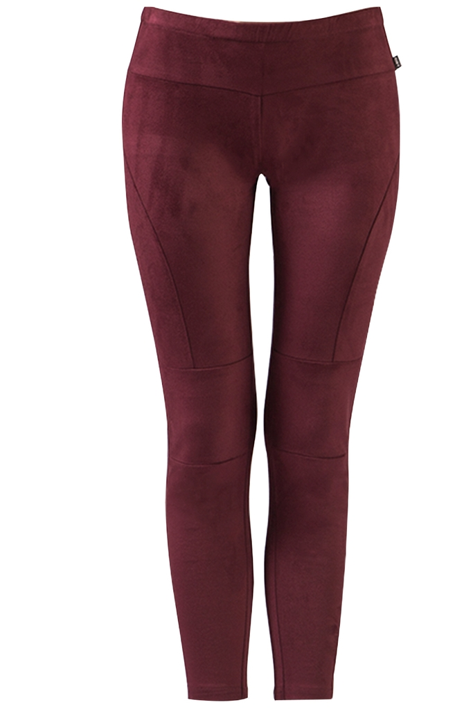 Quần leggings da lộn Sophie Suede Leggings/ Burgundy