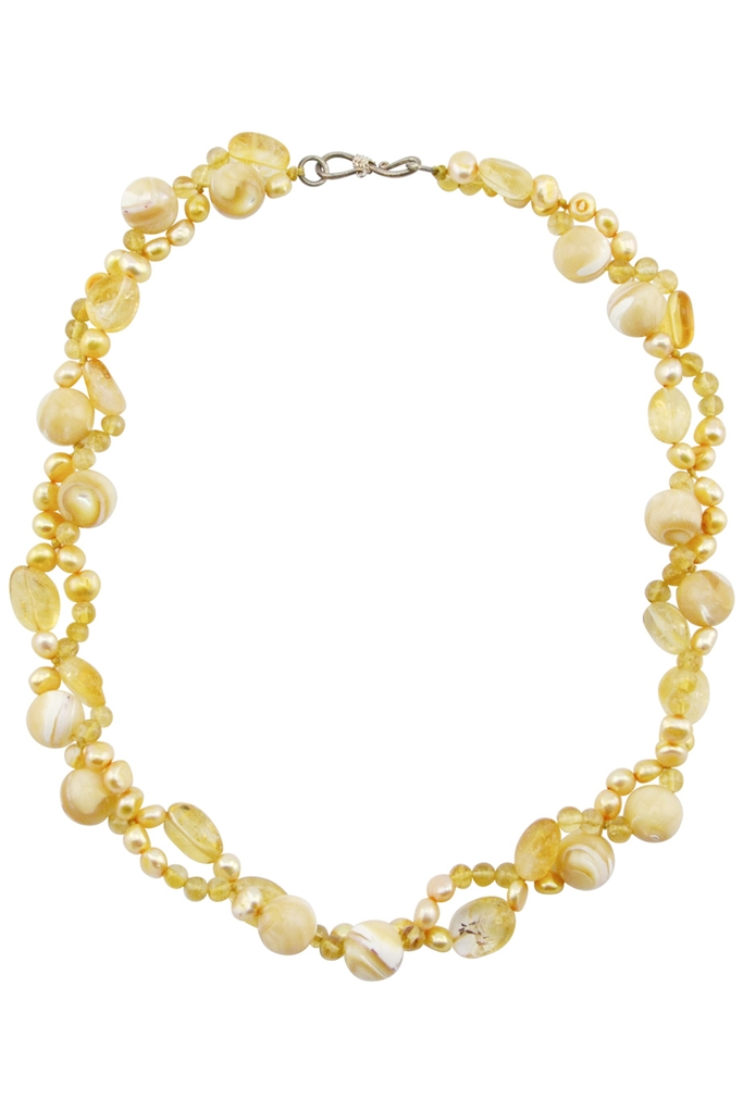 Vòng cổ Phoenix Citrine Shell & Pearl Necklace