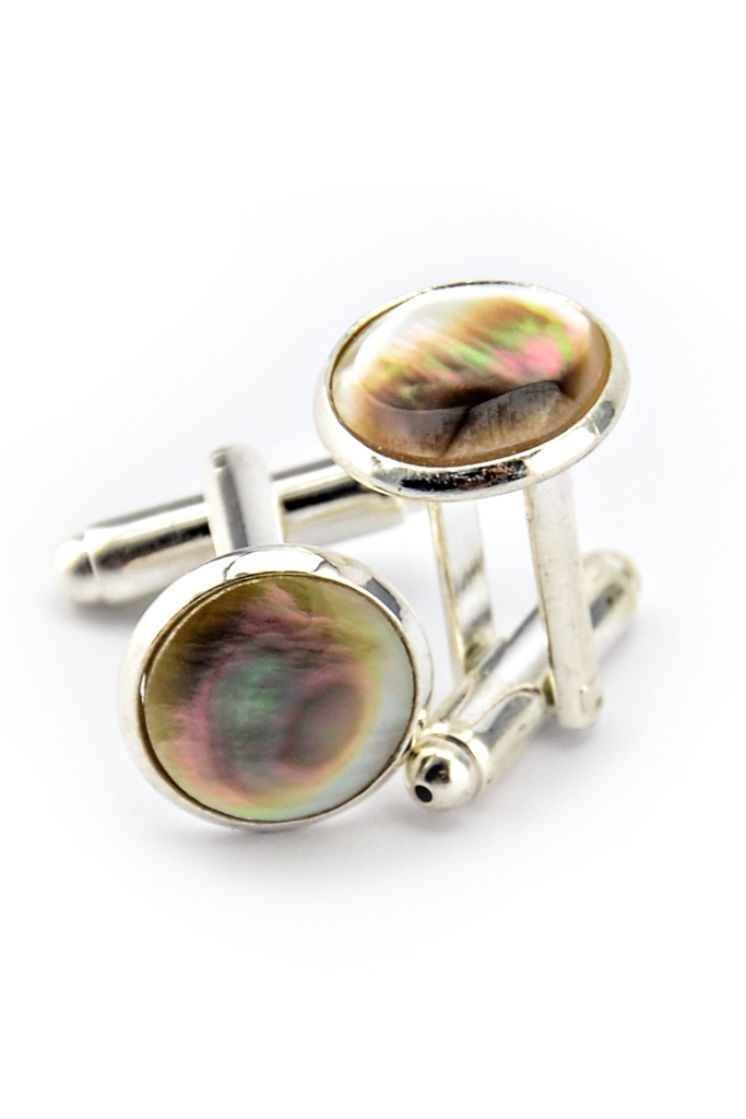 Grace Nacre Cufflinks/ Light