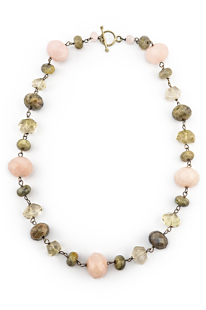 Najwa Rose Labra Citrine & Silver Necklace