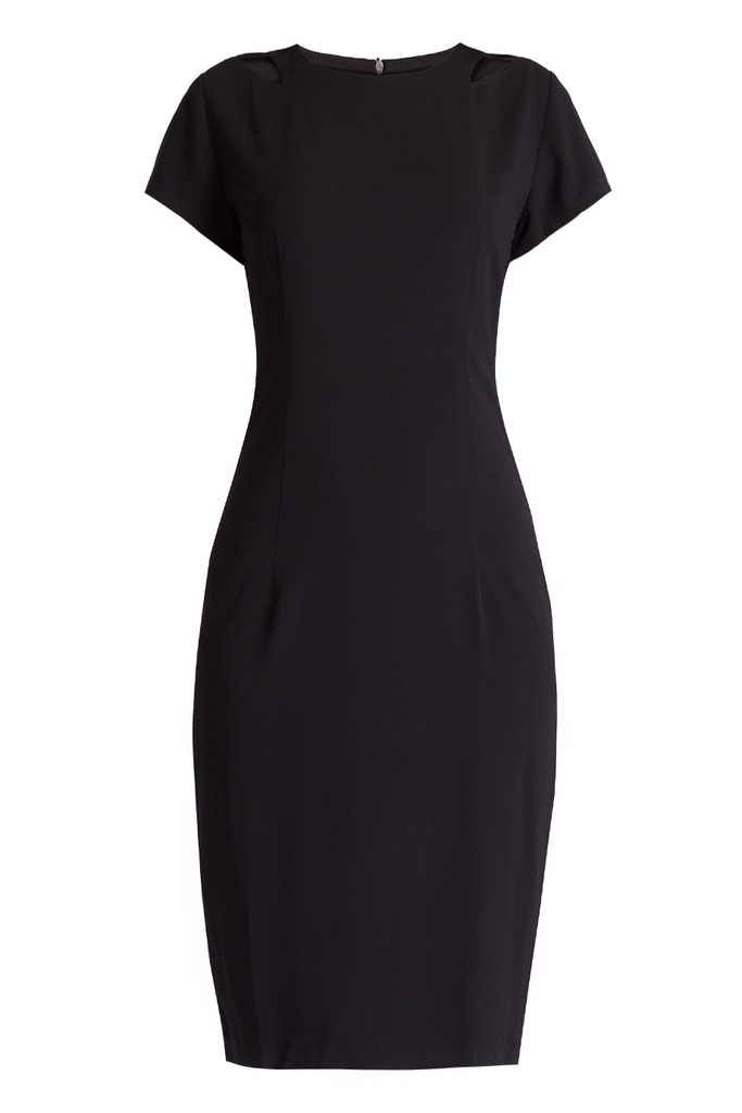 Đầm công sở Madison Short-sleeved Sheath Dress (D2)/ Black 2143