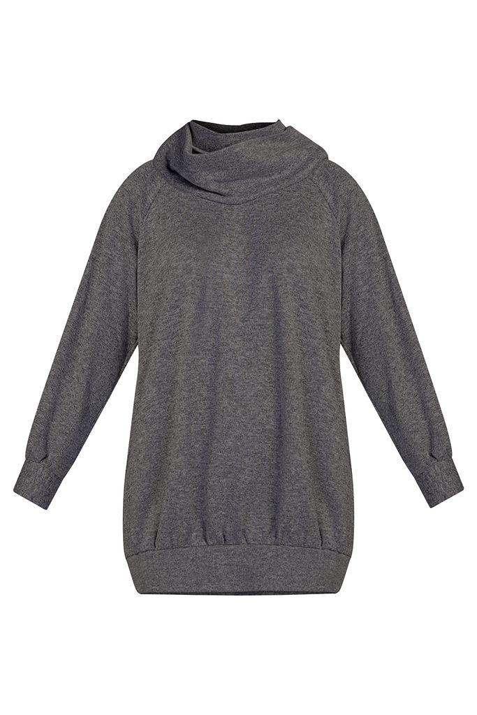 Áo len thụng Mabel Knitted Tunic/ Charcoal
