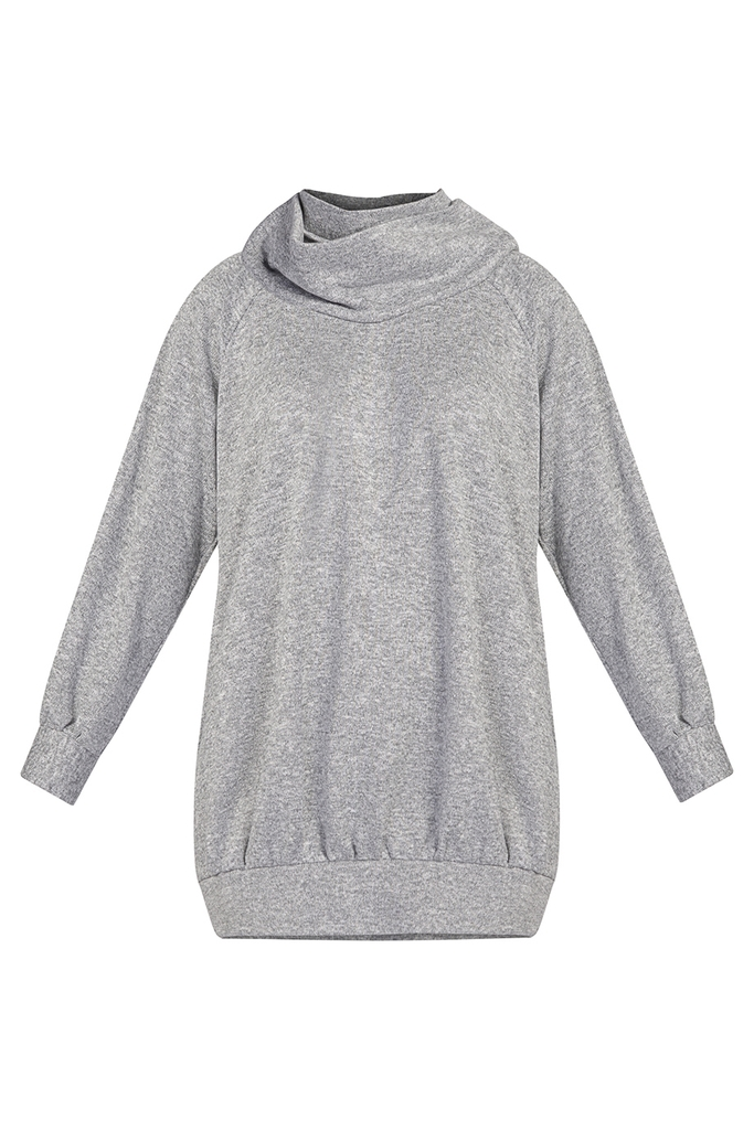 Áo len thụng Mabel Knitted Tunic/ Coin Grey