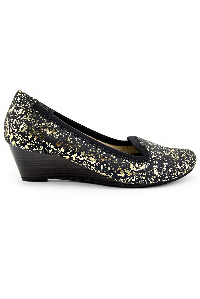 PORTA KOBE 3cm Shoes (Japan)/ Black-Gold