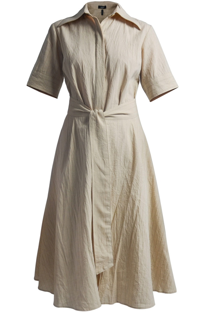 Đầm Jody  Linen Shirt Dress/ Beige 2248