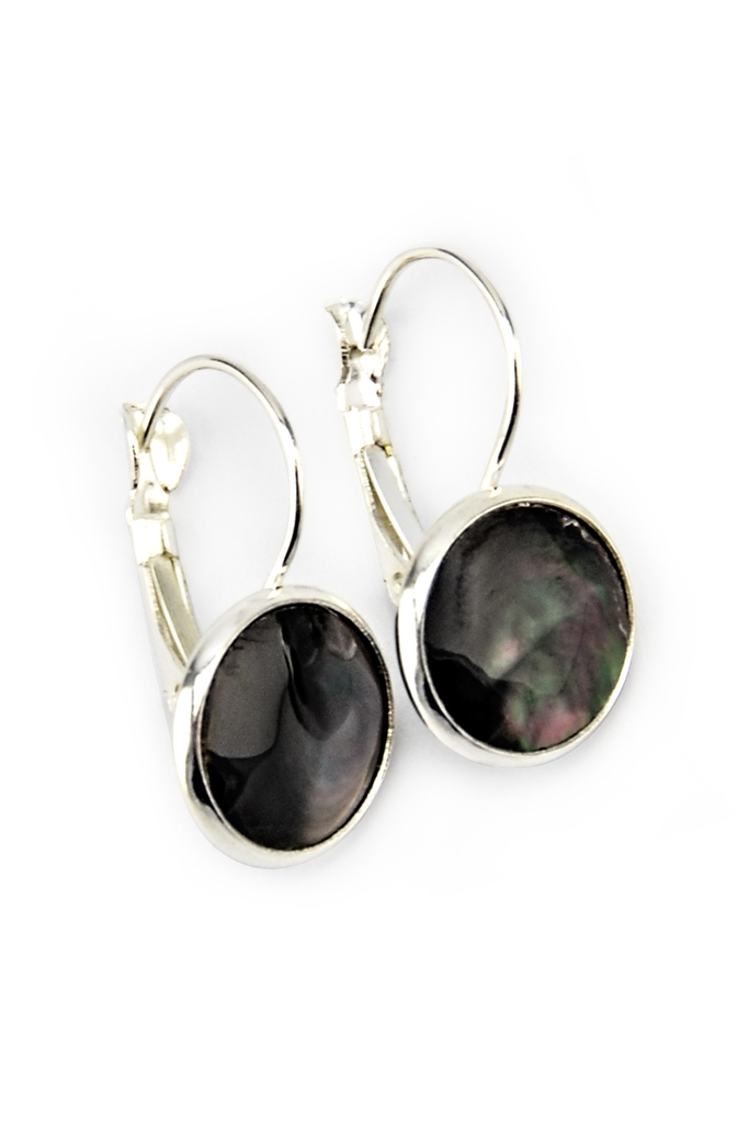 Grace Nacre Earings/ Dark