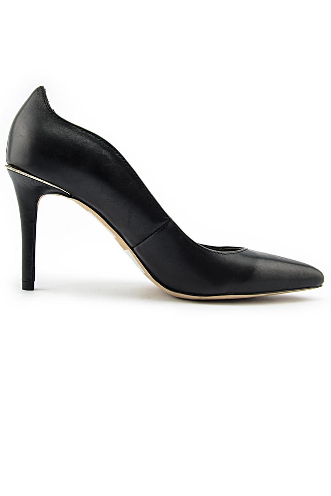 ALDO Leather Pumps 7.5cm/ Black