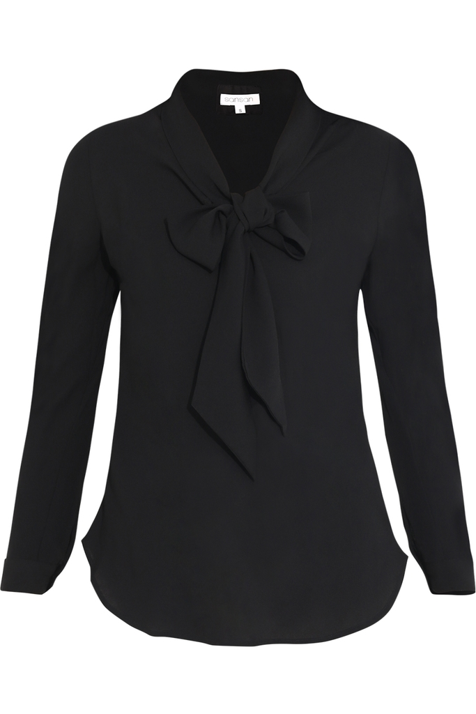 Nancy Bow Blouse/ Black
