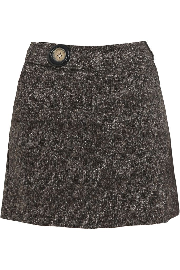 Jullie A-line Skirt/ Brown-Black
