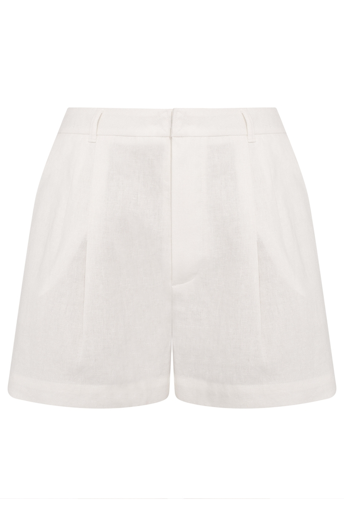 Kelly High-waisted Shorts/ White