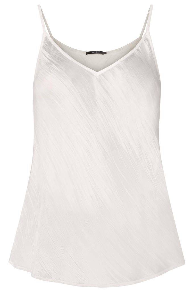 Áo lụa tơ tằm 100% V-neck Silk Bias Cut Camisole/ Cream White