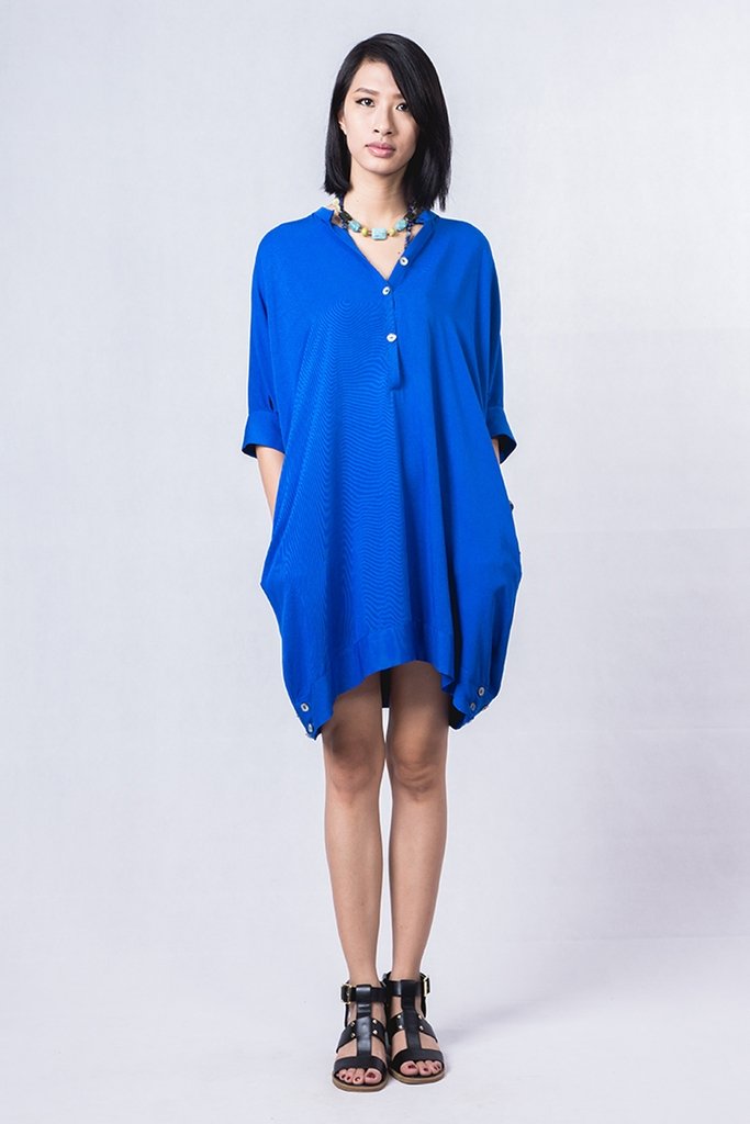Tide Dress/ Cobalt