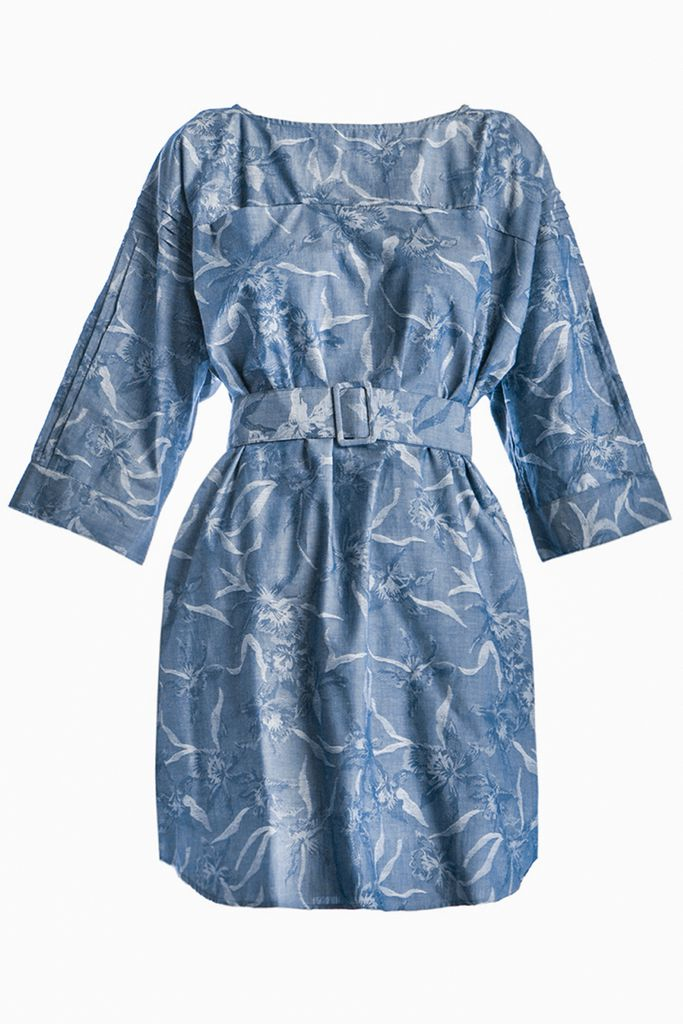 Đầm sơ mi Juniper Boat-neck Denim Shirtdress (D2)