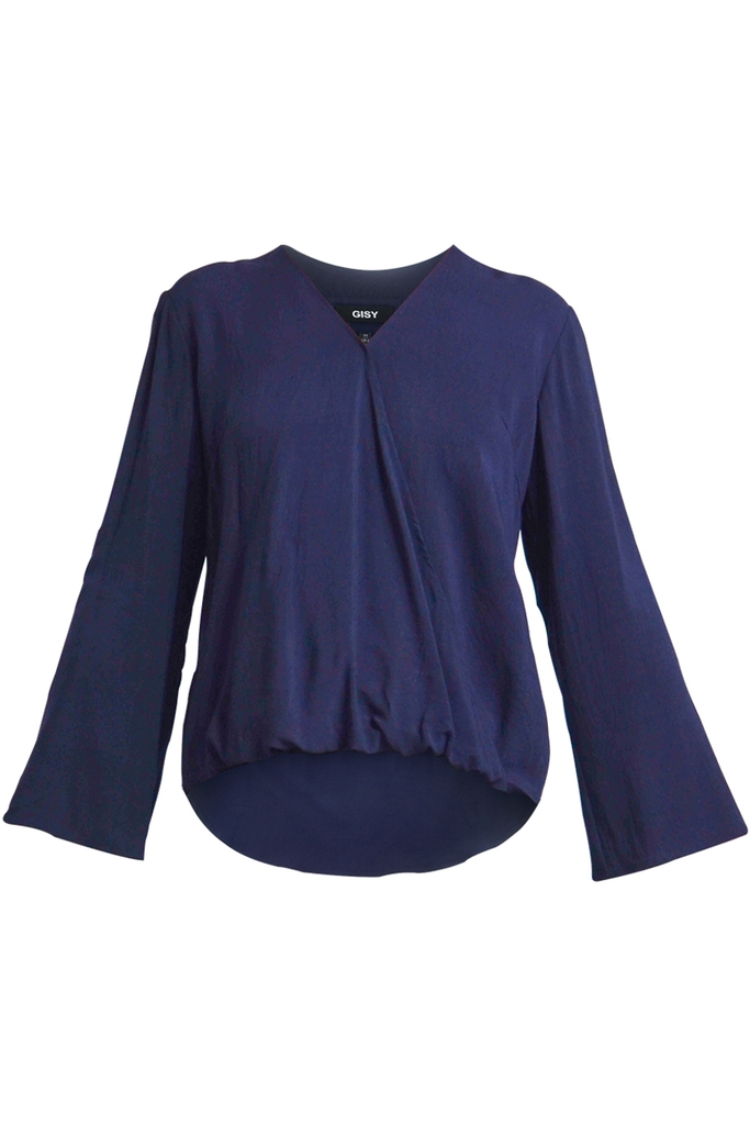 Áo Layla Wrap-effect Blouse/ Navy 2256