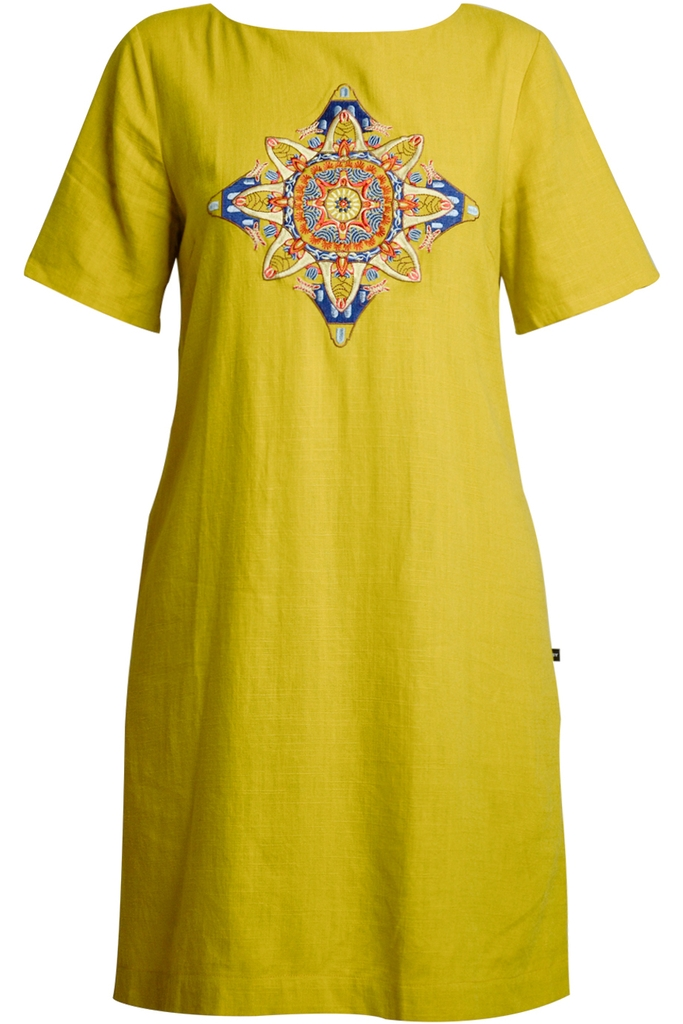 Đầm Goldie Embroidered Shift Dress/ Yellow 2192
