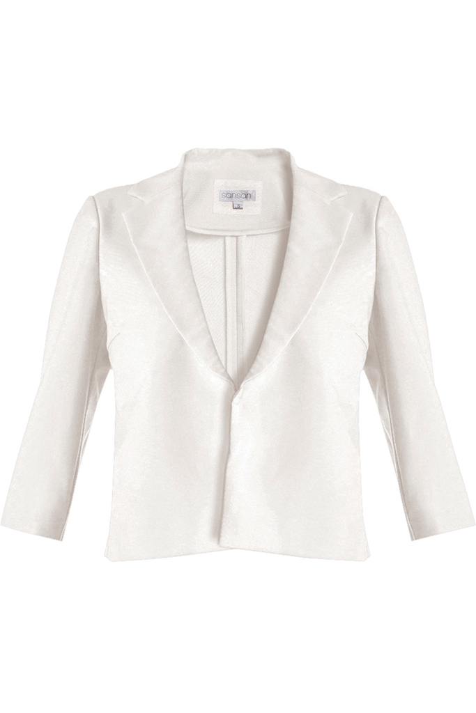 Áo vest lửng Louise Crop Suit Jacket/ Cream White