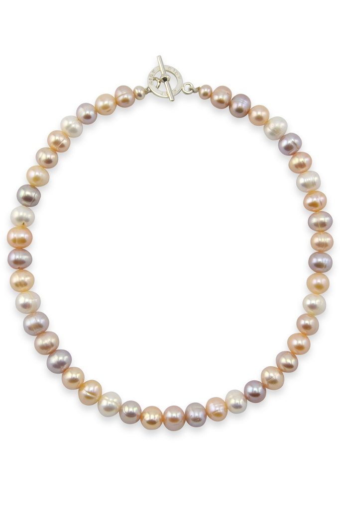 Vòng cổ Morning Clacie 9mm Rose Pearl Necklace