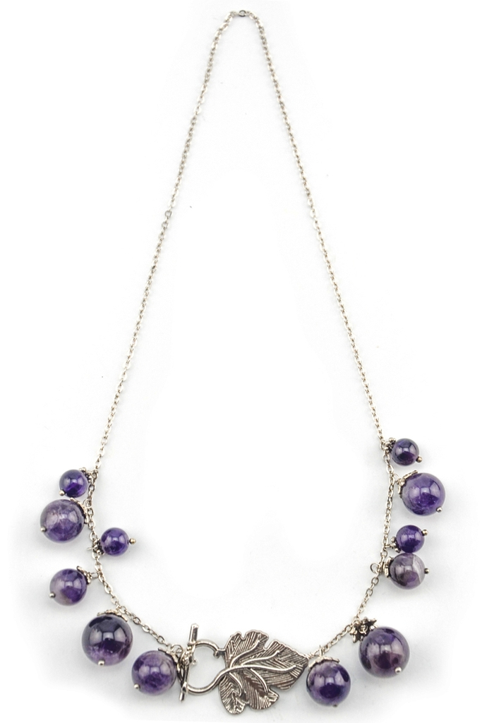 Vòng cổ Grape Yard Amethyst & Silver Necklace