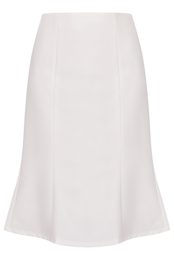 Francine Fishtail Skirt/ Cream White
