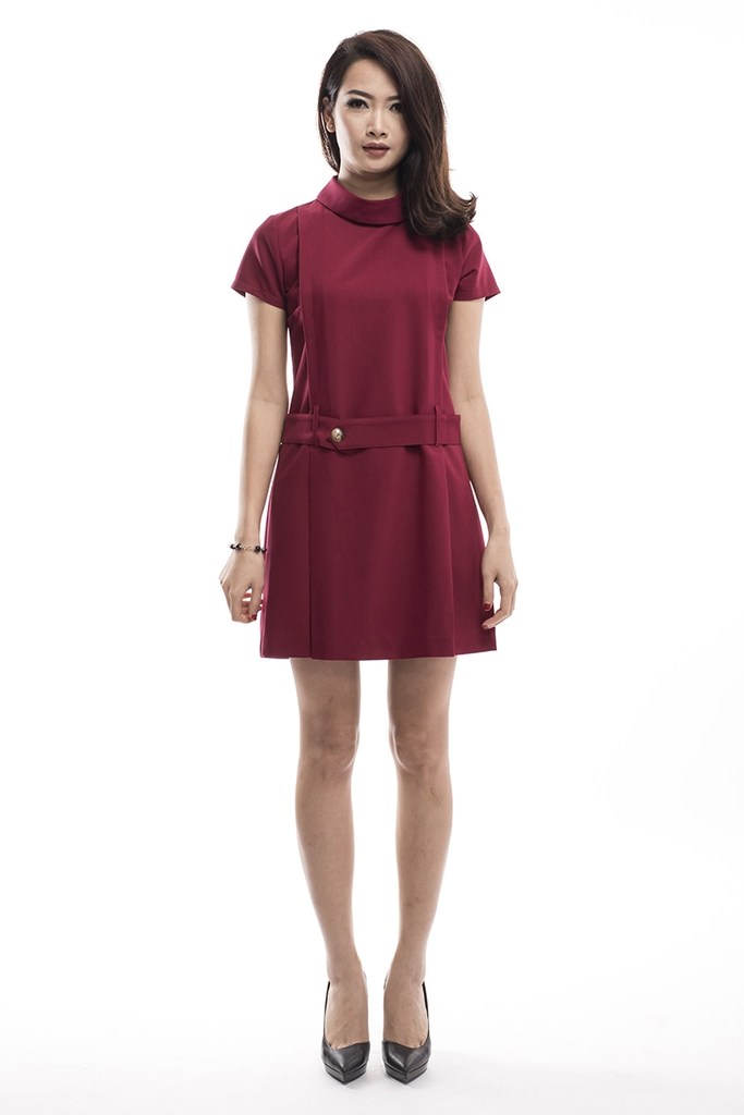 Twiggy Mod Dress/ Marsala