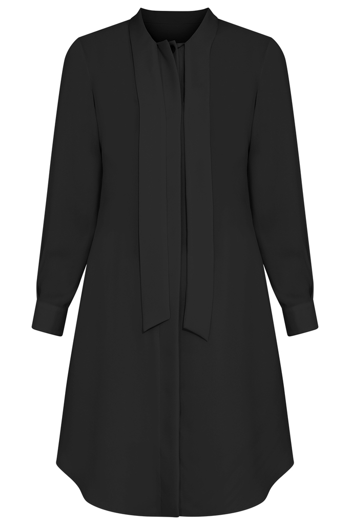 Charlotte Shirt Dress/ Black