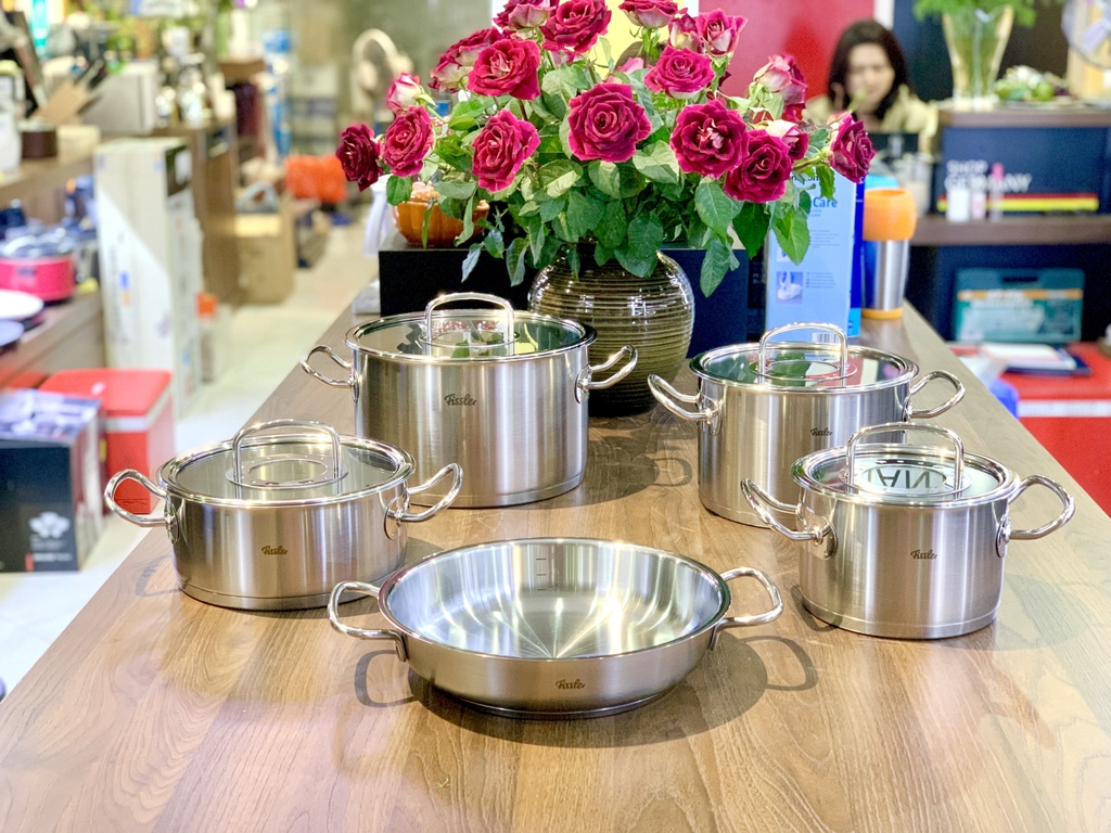 BỘ NỒI FISSLER ORIGINAL PROFI COLLECTION 08435805000 (CHẢO 2 QUAI)